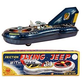 c.1957 Linemar, Space Flying Jeep in Original Box