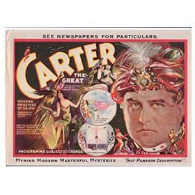 1926 Carter the Great, Magician, Original Lithographed Poster Salesman Samples