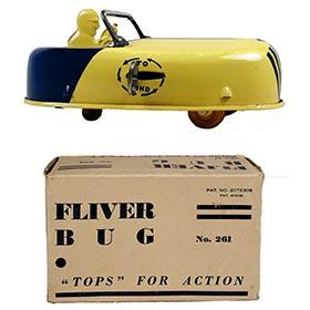 c.1929 Buffalo Toy & Tool Works, Mechanical Fliver Bug in Original Box