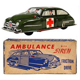 c.1949 Lupor, U.S. Army Ambulance with Siren in Original Box