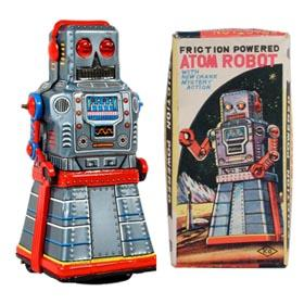 c.1957 Yoshiya, Friction Powered Atom Robot in Original Box