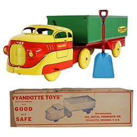 1939 Wyandotte, No. 391 Semi-Tractor Trailer Side-Dump Truck in Original Box