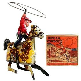 c.1925 Marx, Ride'-Em Cowboy in Original Box