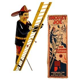 1934 Marx, Smokey Joe the Climbing Fireman in Original Box