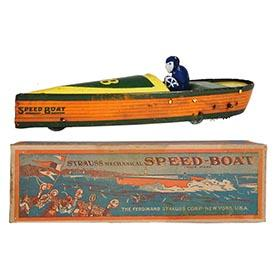 c.1923 Strauss, #28 Mechanical Speed-Boat (2) in Original Box