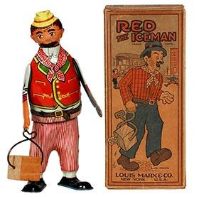 c.1925 Marx, Red The Iceman in Original Box