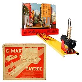 c.1936 Baldwin Mfg. Co., Mechanical G-Man Patrol in Original Box