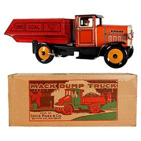 1934 Marx, Mechanical City Coal Co. Dump Truck in Original Box