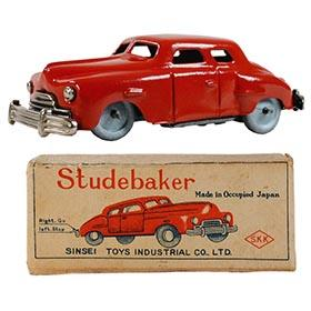 c.1949 Sinsei Toys, Studebaker Coupe in Original Box