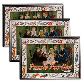 1920 A.C. Gilbert, No.1, No.2 & No.3 Puzzle Parties in Original Boxes