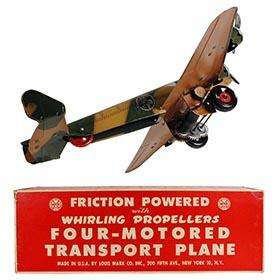 1942 Marx, Camouflage Four-Motor Transport Plane in Original Box