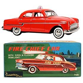 1956 Kaname, Opel Sedan Fire Chief Car in Original Box