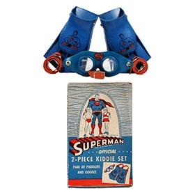 1955 Super Swim Inc., Superman 2pc. Kiddie Swim Set in Original Box