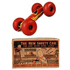 1939 Marx, Bouncing Benny 'New Safety Car' in Original Box