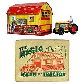 1950 Marx, Magic Barn and Midget Tractor in Original Box