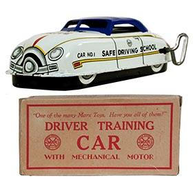 c.1950 Marx, Driver Training Car (Blue Roof) in Original Box