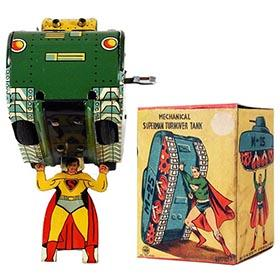 c.1955 Linemar Superman Turnover Tank in Original Box