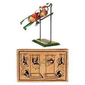 1932 Marx, Tumbling Monkey & Trapeze in Original Box