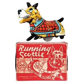 1952 Marx, Running (Wee) Scottie (U.K. version) in Original Box