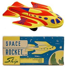 c.1952 Automatic Toy Co., No.306 Space Rocket Ship in Original Box
