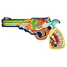c.1953 Japan, Ornate Western Clicker Pistol