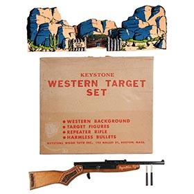 c.1950 Keystone, No. 827 Western Target Set in Original Box