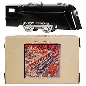 1937 Marx, No.569 Streamlined Commodore Vanderbilt Train Set in Original Box