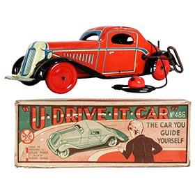 1936 Marx, U-Drive-It Car (U.K. version) in Original Box