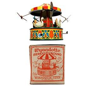 1938 Wyandotte, No. 2010 Mechanical Merry-Go-Round with Music in Original Box