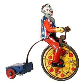 c.1922 Marx, Cirko The Clown Riding Tricycle