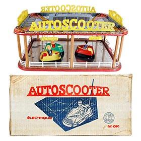 c.1965 France Jouets, Battery Operated Autoscooter (Bumper Cars) in Original Box