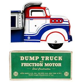 1955 Marx, Lumar City Construction Co. Dump Truck in Original Box