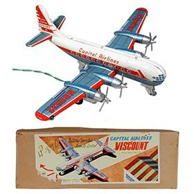 c.1954 Linemar, Battery Operated Capital Airliner Viscount in Original Box