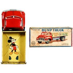 c.1955 Linemar, Donald Duck Dump Truck in Original Box