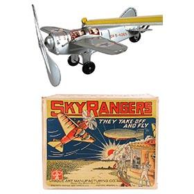 1933 Unique Art Mfg. Co., Sky Rangers in Original Box