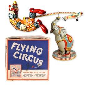 1941 Unique Art Mfg. Co., Flying Circus in Original Box