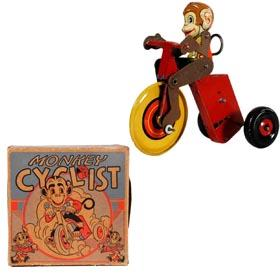 1939 Marx, Monkey Cyclist in Original Box