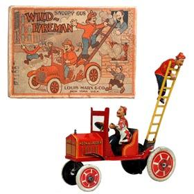 1926 Marx, Snoopy Gus The Wild-Fireman in Original Box