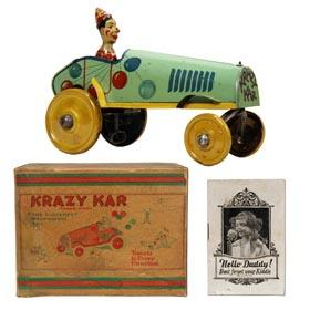 1920 Strauss Krazy Kar in Original Box w/In-Box Catalog