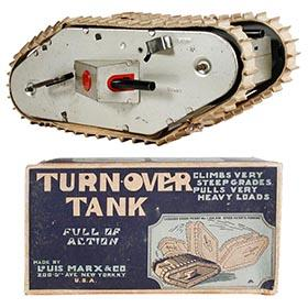 1931 Marx, WWI Turn Over Tank in Original Box