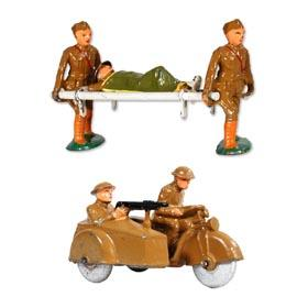 c.1935 Barclay Stretcher Bearers and Motorcycle with Sidecar