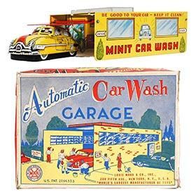 1954 Marx Automatic Car Wash Garage in Original Box