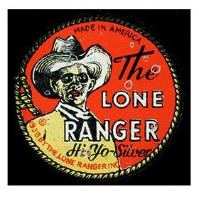 1938 Marx, The Lone Ranger, Hi-Yo Silver Click Pistol in Original Box