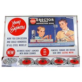 1962 Gilbert, No.10201 Erector Rocket Launcher Set in Original Box