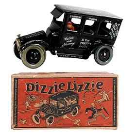 1925 Strauss, Dizzie Lizzie Automobile in Original Box