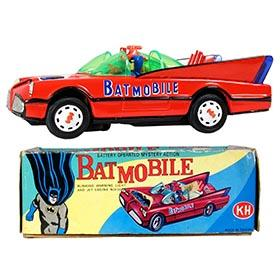 c.1969 Cien Ge Toys, Battery Operated Batmobile in Original Box