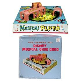 c.1963 Marx Mechanical Disney Musical Choo Choo in Original Box