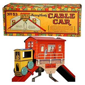 1929 Wolverine, No.53 Sunny Andy Cable Car in Original Box
