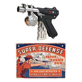 1937 Langson Mfg. Co., Super-Defense Paper-Buster Gun in Original Box