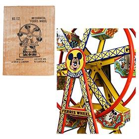 1952 Chein, No.172 Disneyland Mechanical Ferris Wheel in Original Box